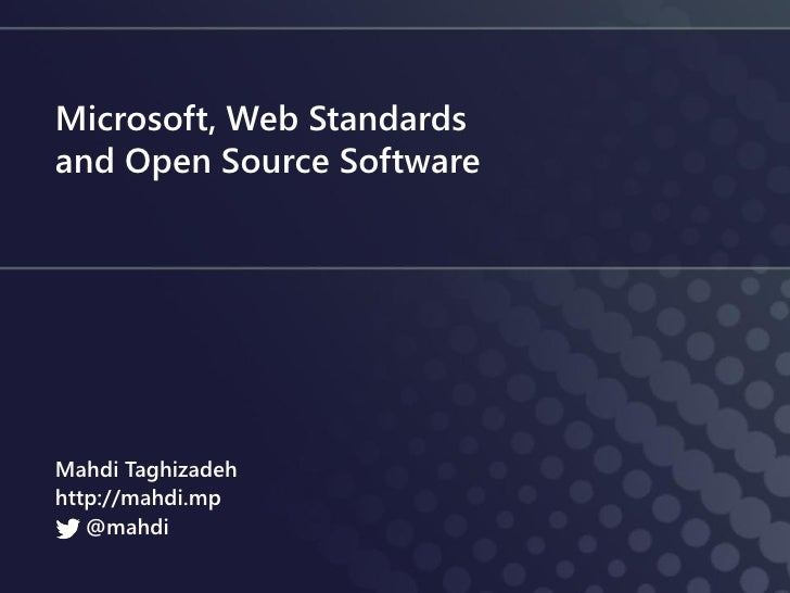 Microsoft, Web Standards and OSS