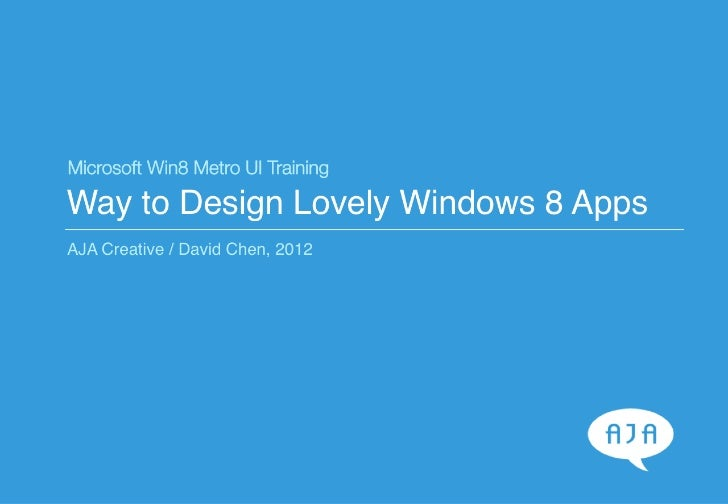 Way to Design Lovely Windows 8 Metro Style Apps