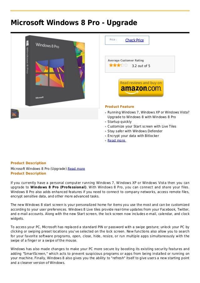 Microsoft Windows 8 Pro - Upgrade                                                                 Price :                 ...