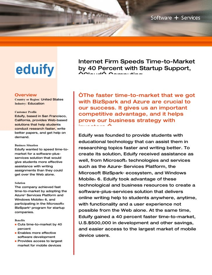 Microsoft Windows Azure - Eduify Software Services Case Study