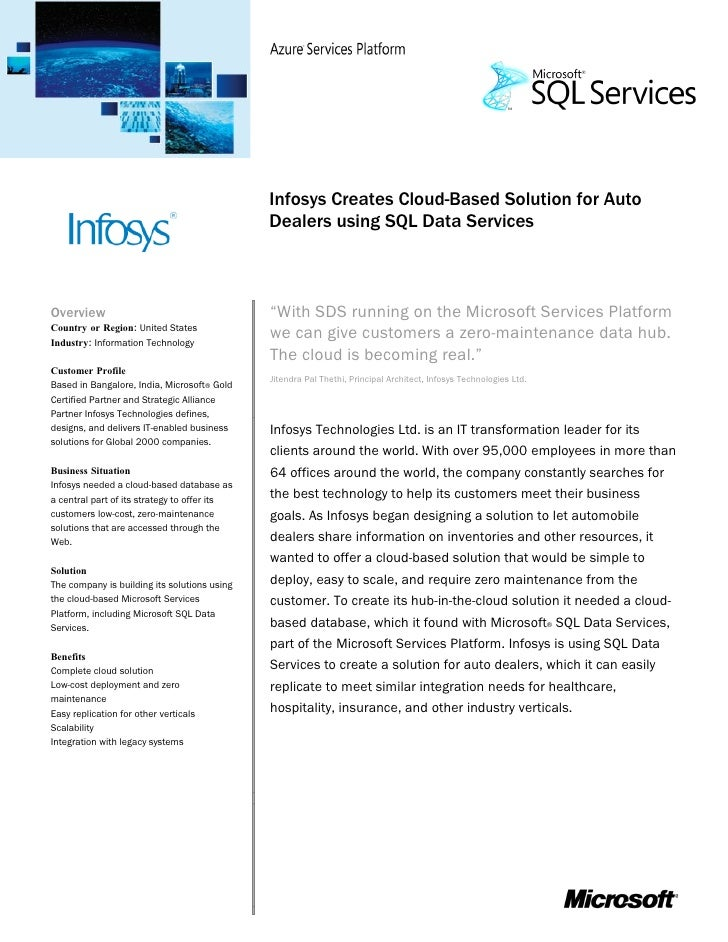 case study infosys global delivery