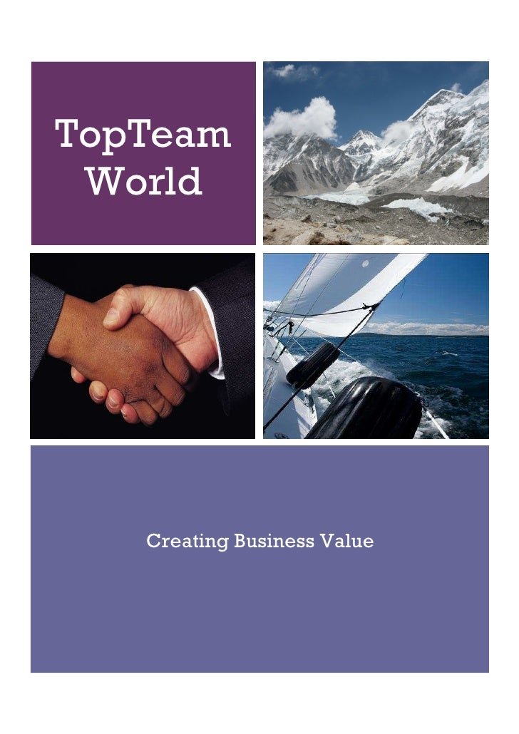 TopTeam  World        Creating Business Value