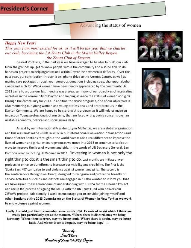 Microsoft word   zonta club of dayton newsletter - jan 2013  1-