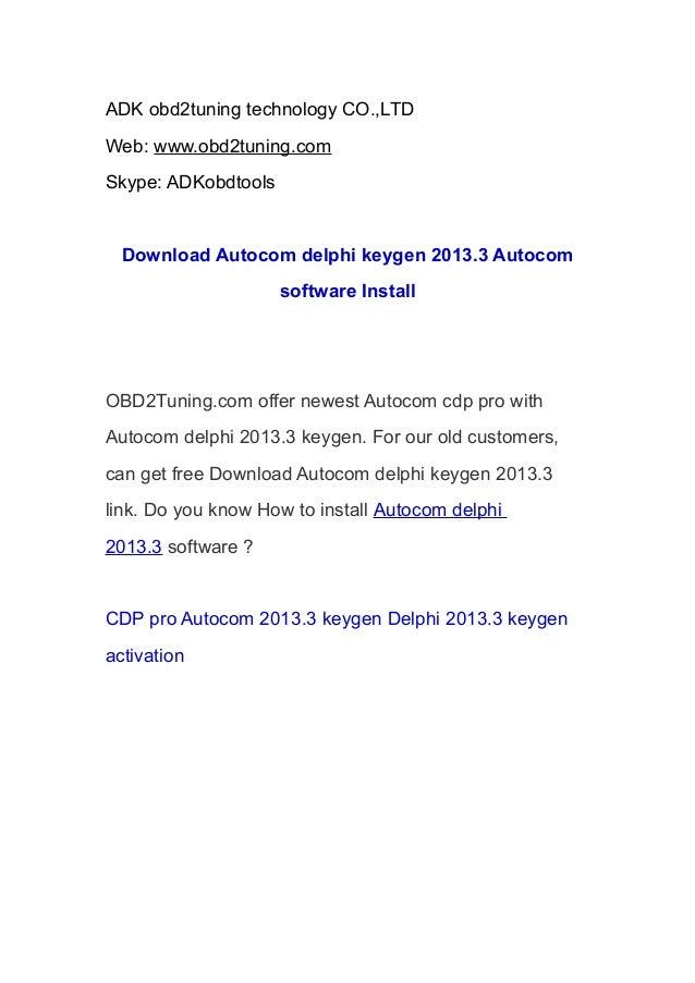 Autocom Cdp Delphi Keygen Download | Autos Weblog