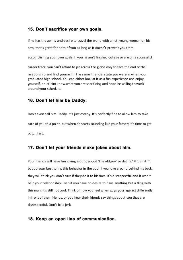Dating older men advice
