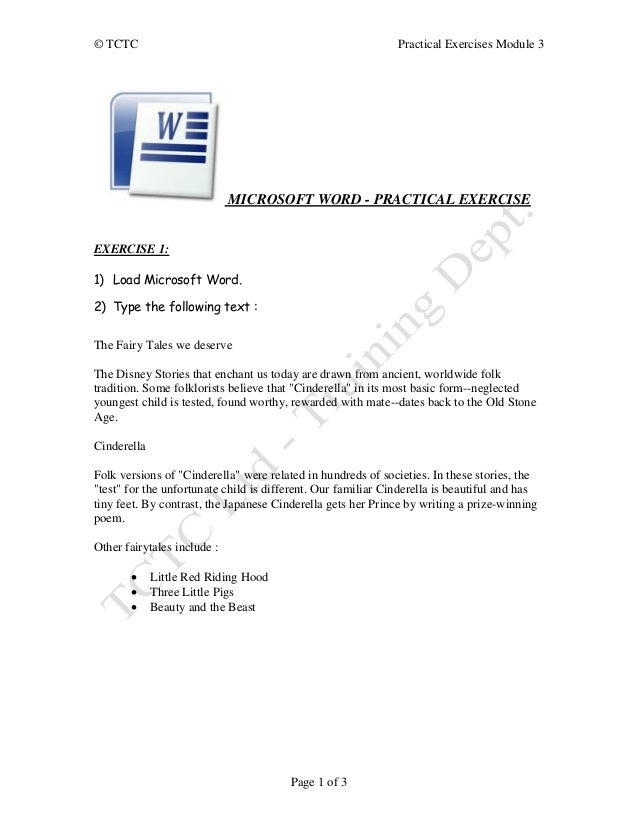 word cline exercises with answers pdf