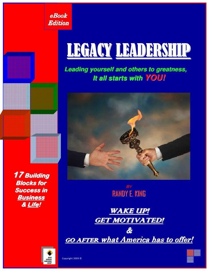 eB ook                    Edition                                      LEGACY LEADERSHIP                                Le...