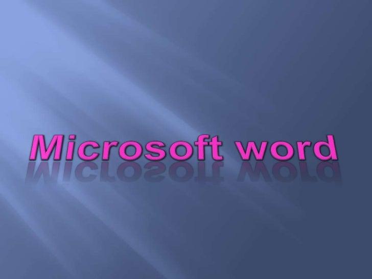CONCEPTO DE WORDWord     es   uno    de    losprocesadores de texto másutilizados en este momento.Los procesadores de text...