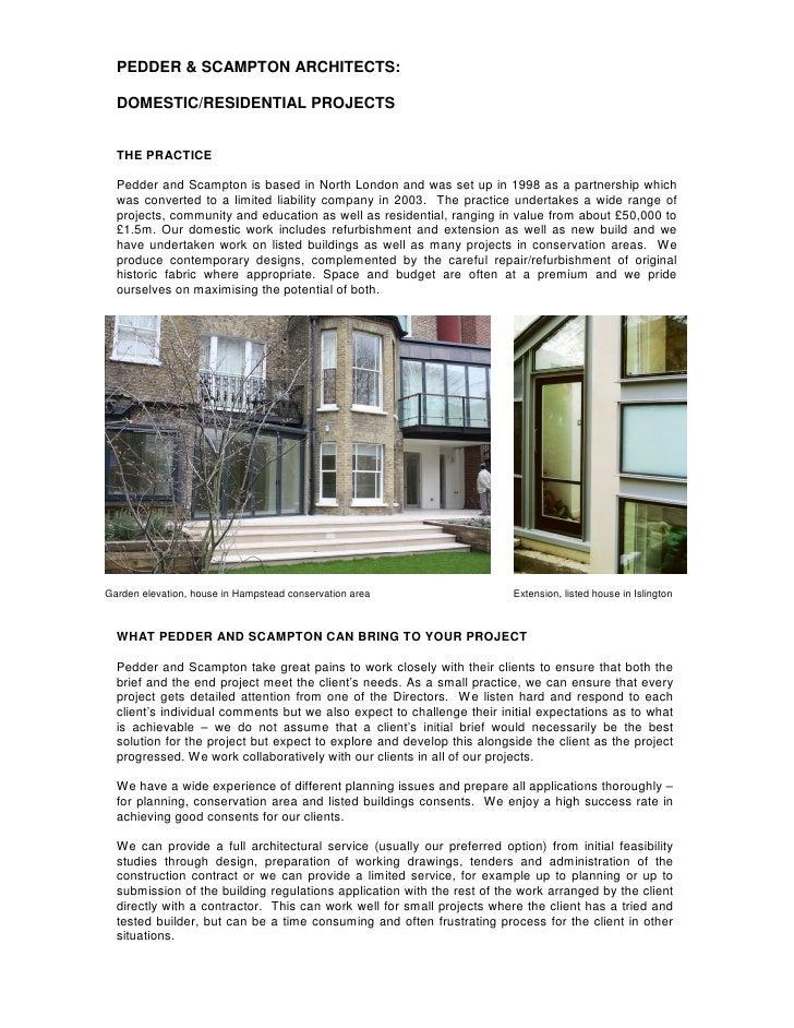Pedder and Scampton  Mini Brochure Domestic 23.03.09
