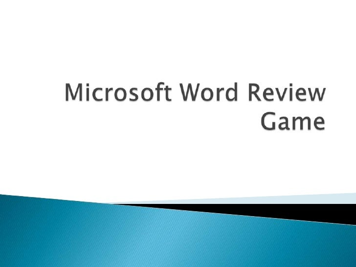 Microsoft Word Review Game<br />
