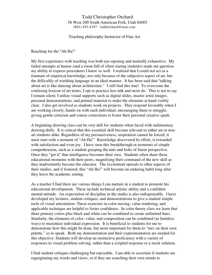Microsoft Word   Teaching Philosophy 2009