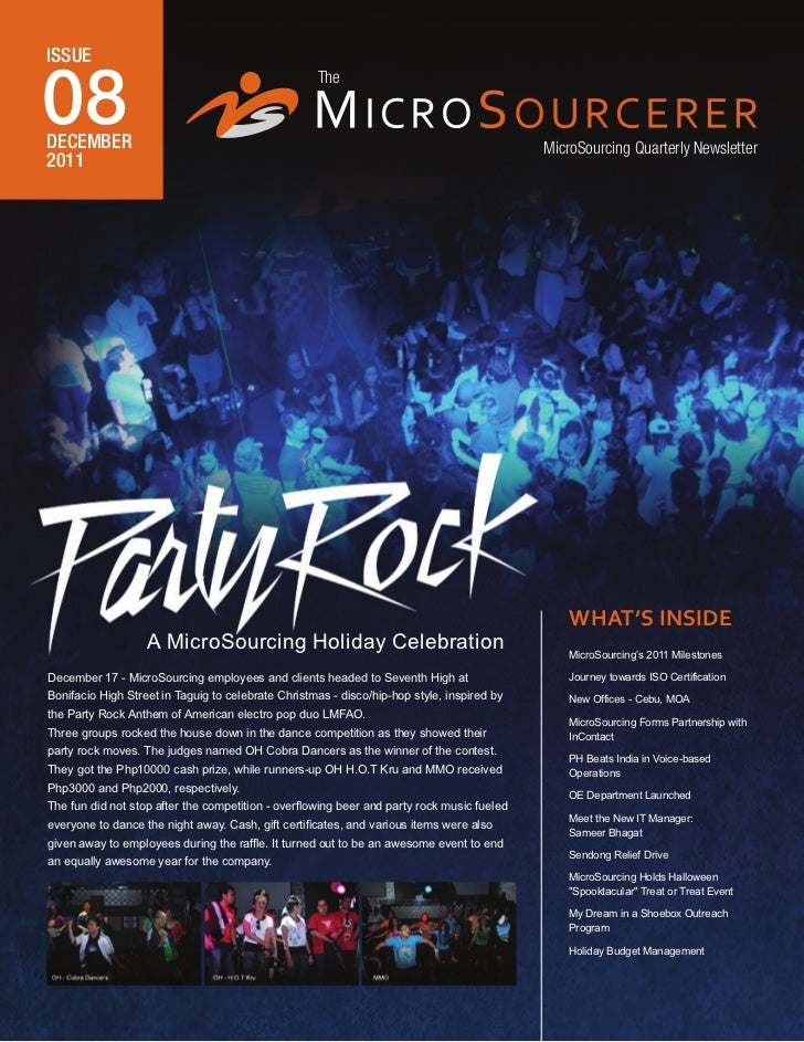 MicroSourcing Newsletter December 2011