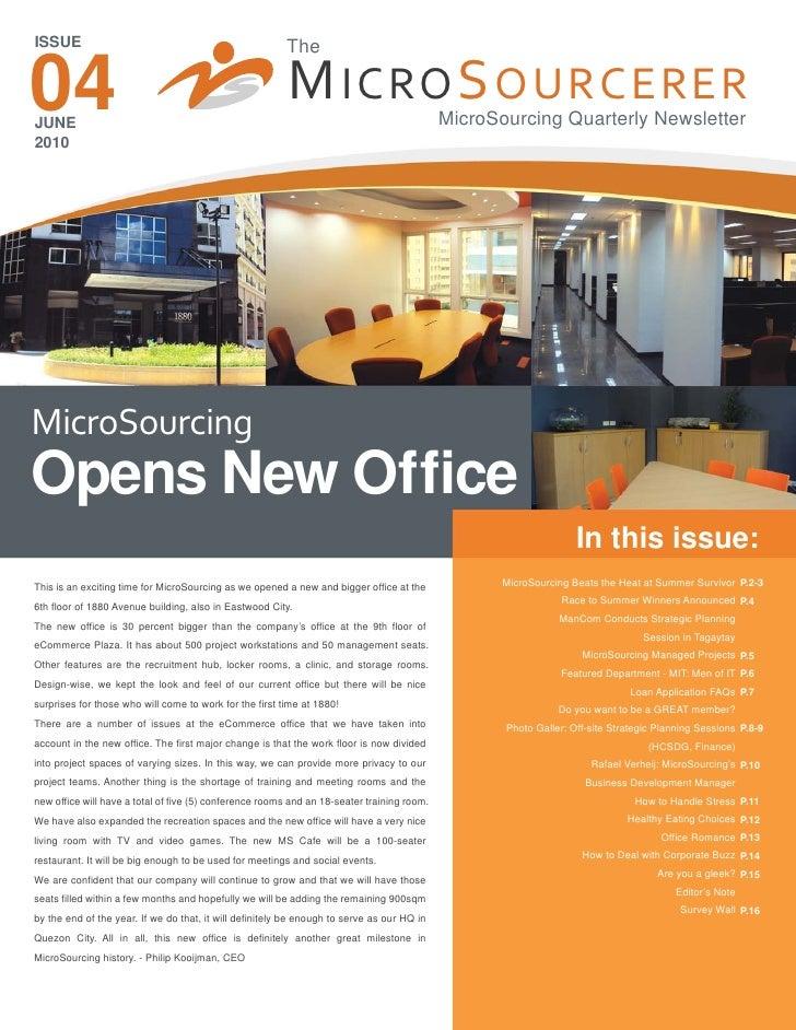 MicroSourcing - June 2010