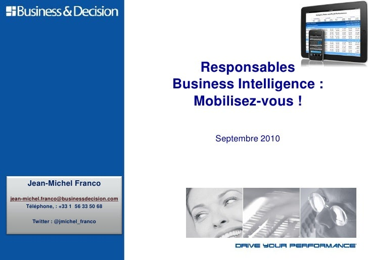 Responsables Business Intelligence : mobilisez vous !