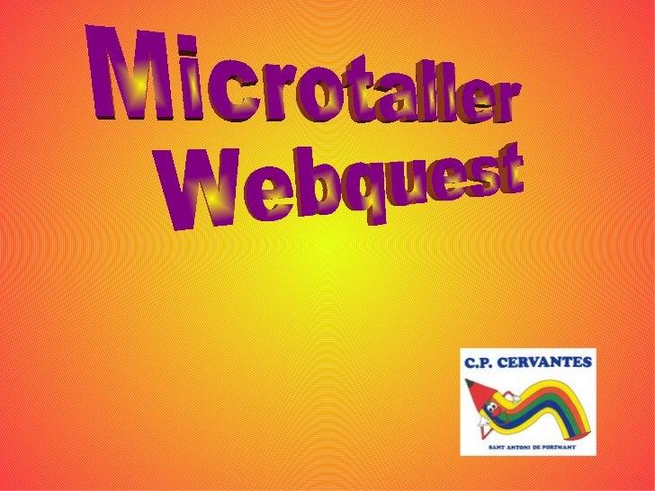 Microtaller Webquest