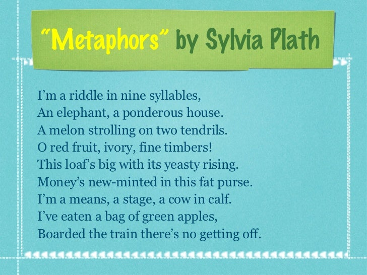 metaphors plath