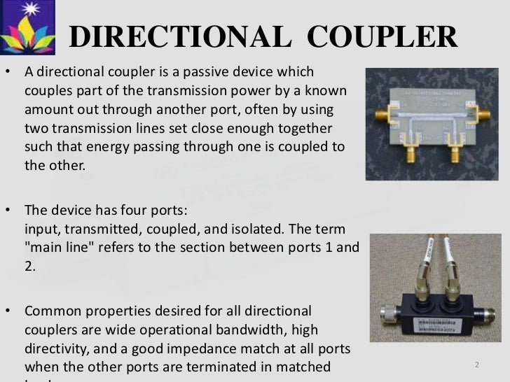 What Is Coupler In Microwave Microwave Directional Coupler