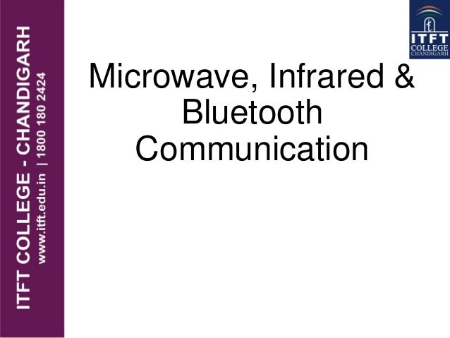 ITFT_Microwave, infrared & bluetooth communication