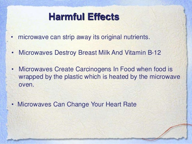 The Dangers of Microwaves and Their Effects on Our Food