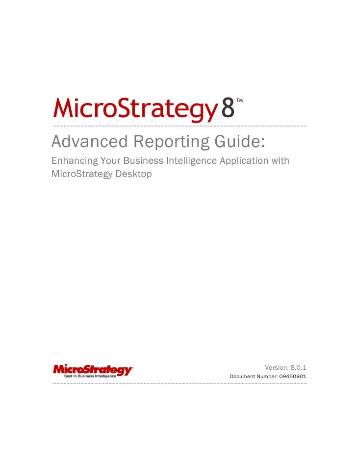 Micrso Strategy Advanced Guide