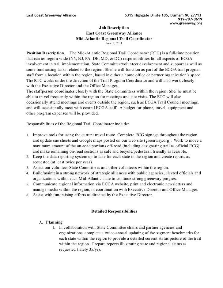 Mid atlantic coordinator-job_description