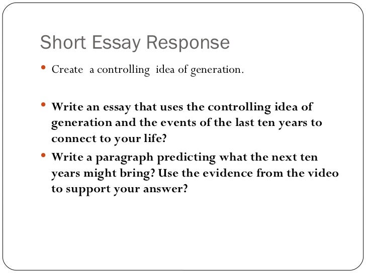 What is the controling idea of an essay