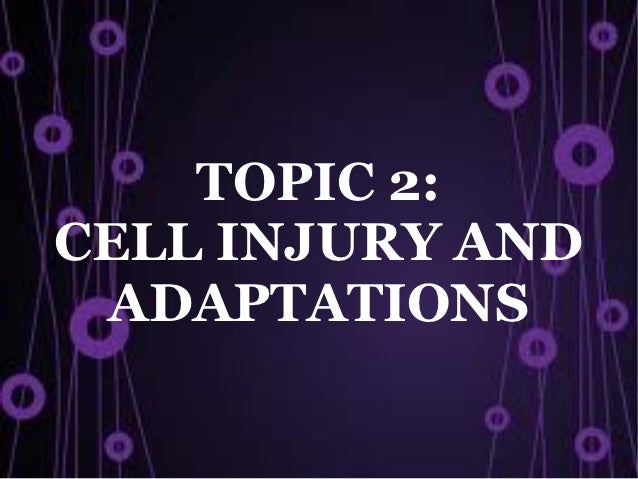 TOPIC 2:CELL INJURY AND ADAPTATIONS