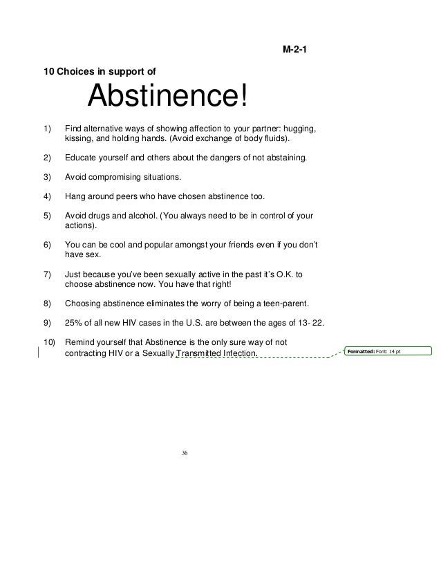 abstinence assignment The trump administration's push to resurrect abstinence-only sex education for teens prompted skepticism from jimmy kimmel on his late-night  general assignment reporter, huffpost suggest a .