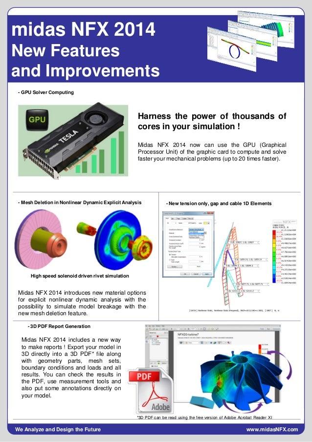 FEA speed up, midas NFX 2014 major enhancements