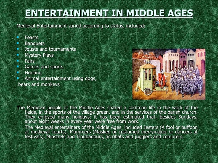 What type of things did we inherit from the middle ages?