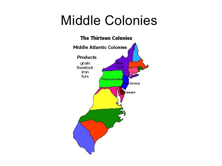 Middle colonies region