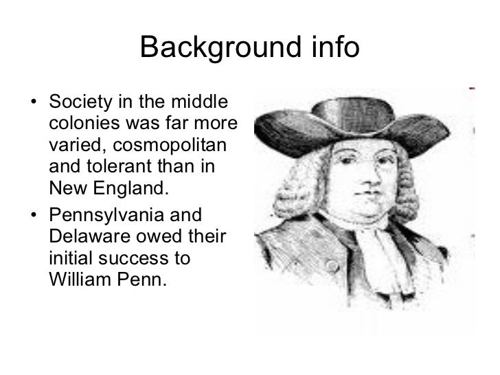 Facts about the middle colonies!!!?
