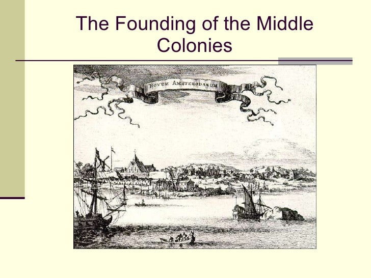 Middle colonies-founding