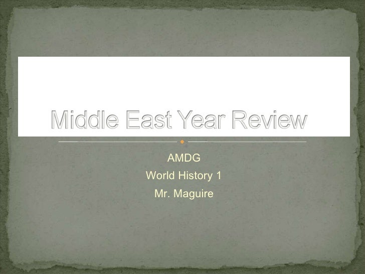 Middle East Year Review