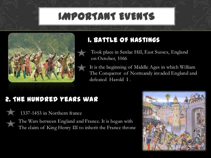 Important Medieval Ages event?