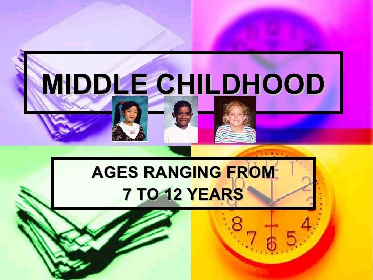MIDDLE CHILDHOOD AGES RANGING FROM 7 TO 12 YEARS
