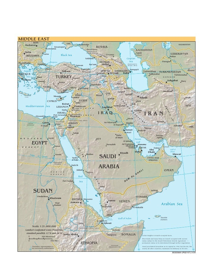 World Map Middle east