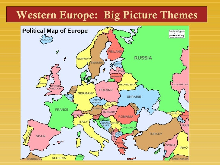 Western Europe: Big Picture Themes