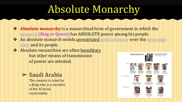 Absolute Monarchy Government