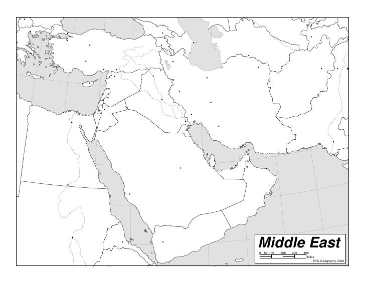 Blank Map Of Middle East My blog