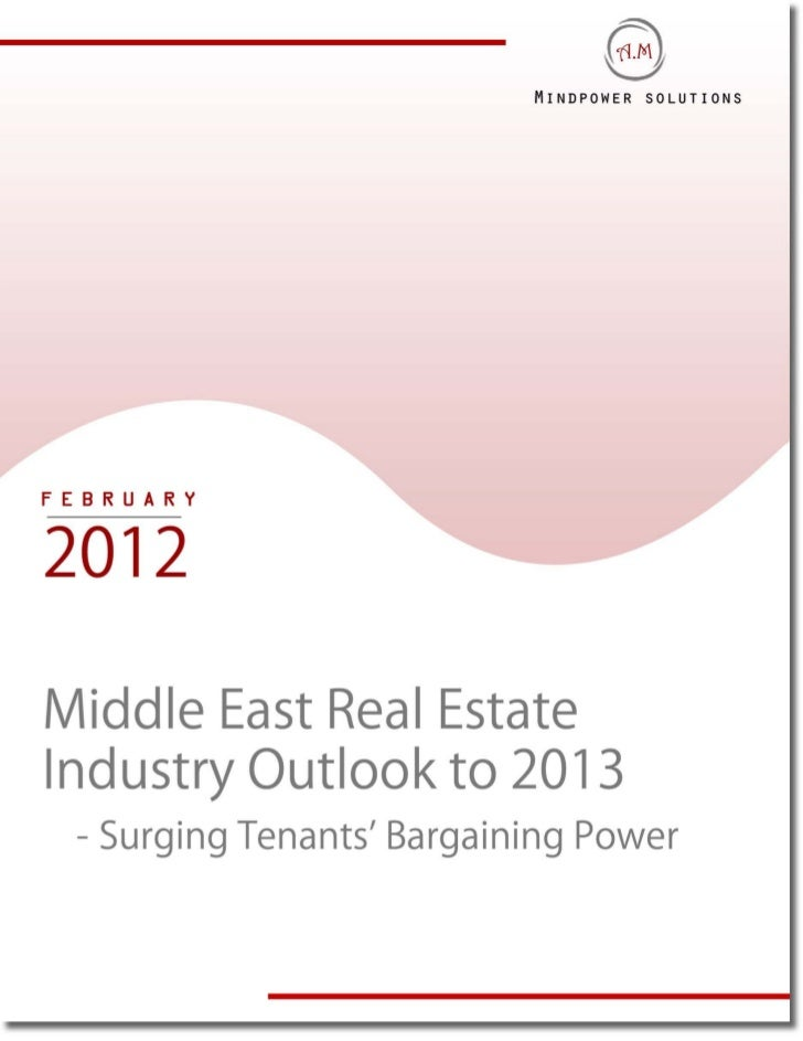 Middle east real estate market outlook sample report