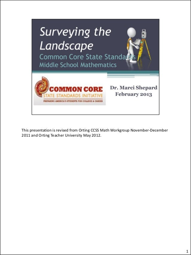 This presentation is revised from Orting CCSS Math Workgroup November-December2011 and Orting Teacher University May 2012....