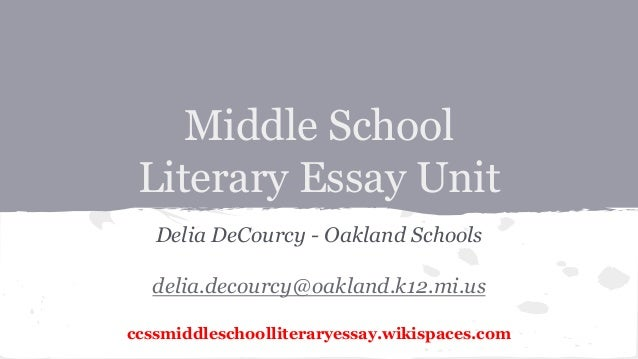 structure of an essay middle school