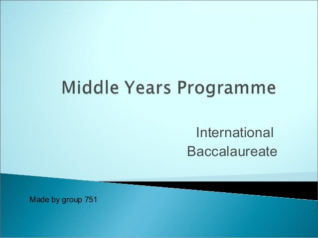 Middle year's programme