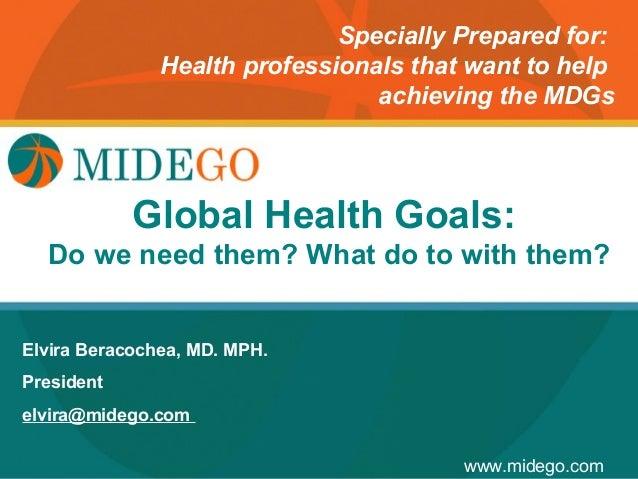 Midego how to achieve the millennium development goals