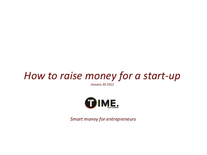 Training session -- How to Raise Funds For Your Own Start-Up - midem 2012 presentation