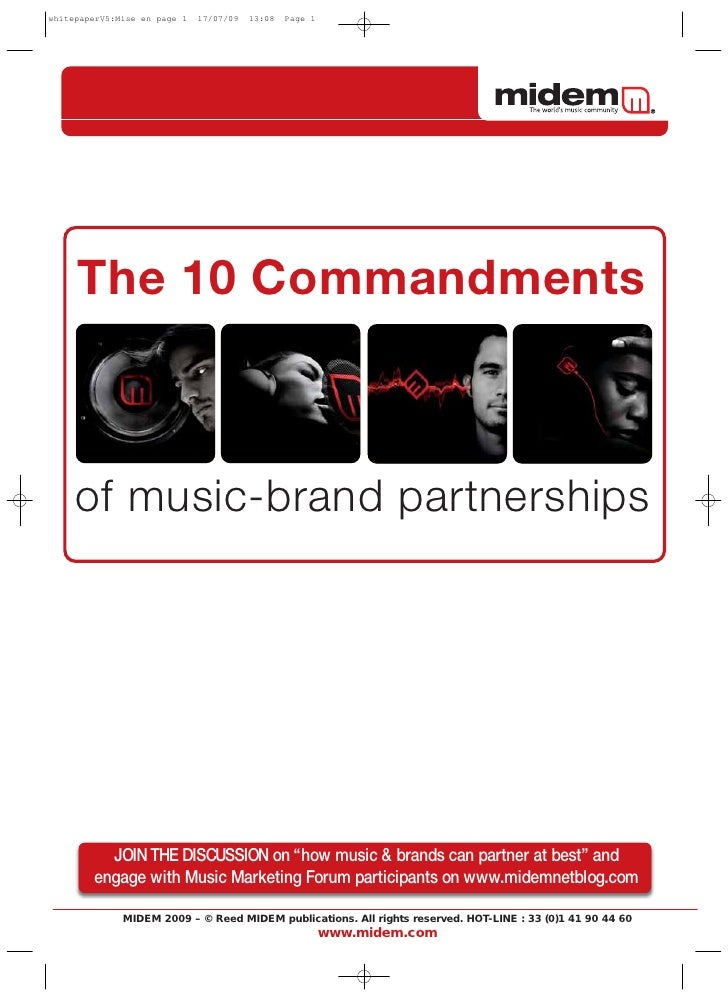 "The 10 Commandments    of music-brand partnerships       JOIN THE DISCUSSION on ""how music & brands can partner at best"" a..."