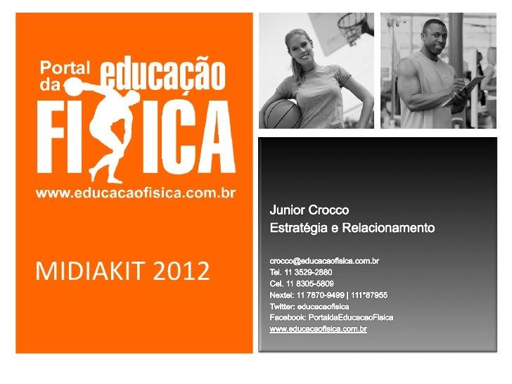 Portal da Educação Física   Midiakit 2012