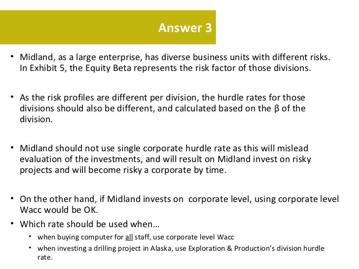 case analysis midland energy Citation: luehrman, timothy a, and joel l heilprin midland energy resources, inc: cost of capital (brief case) harvard business school teaching note 094-130.