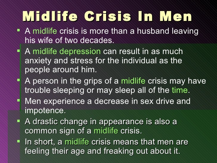 Male midlife depression symptoms